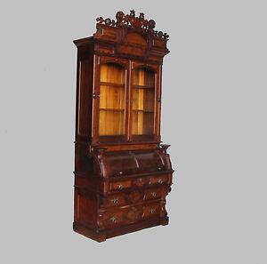Tremendous Details About Antique Victorian Walnut Cylinder Secretary Desk Bookcase Download Free Architecture Designs Embacsunscenecom