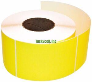 Yellow 250/Roll 4x6 Direct Thermal Labels Zebra 2844 ZP-450 ZP-500 ZP-505 Eltron