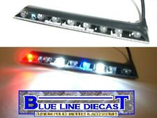 1/18 Flashing LED Police Interior Visor Headliner Lightbar Custom Diecast Model