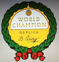 HUSQVARNA WORLD CHAMPION REPLICA DECAL CREST