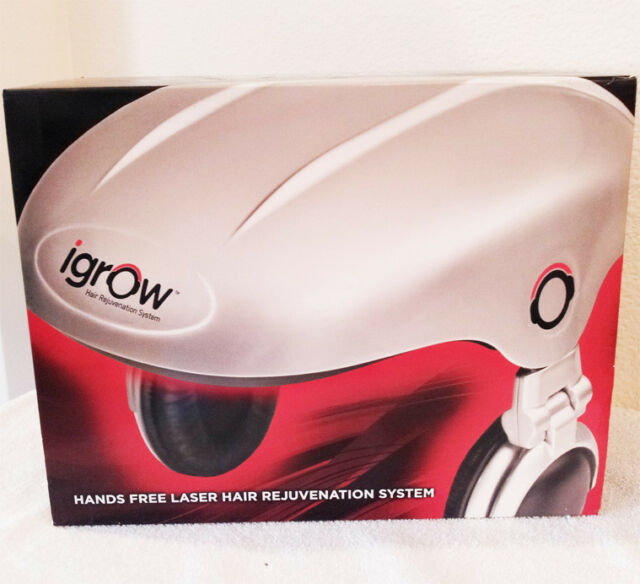 IGROW HANDS FREE LED LASER HAIR REGROWTH REJUVENATION SYSTEM IPOD IPHONE MP3