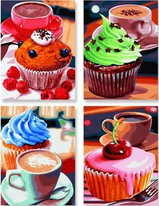 Cupcakes-609340629-Schipper-dessins-numerotes-4-Pieces-18x24-cm-Muffins-Neuf