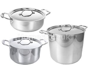 prestige steel induction cookware saucepan casserole stockpot pan saute pot ebay. Black Bedroom Furniture Sets. Home Design Ideas