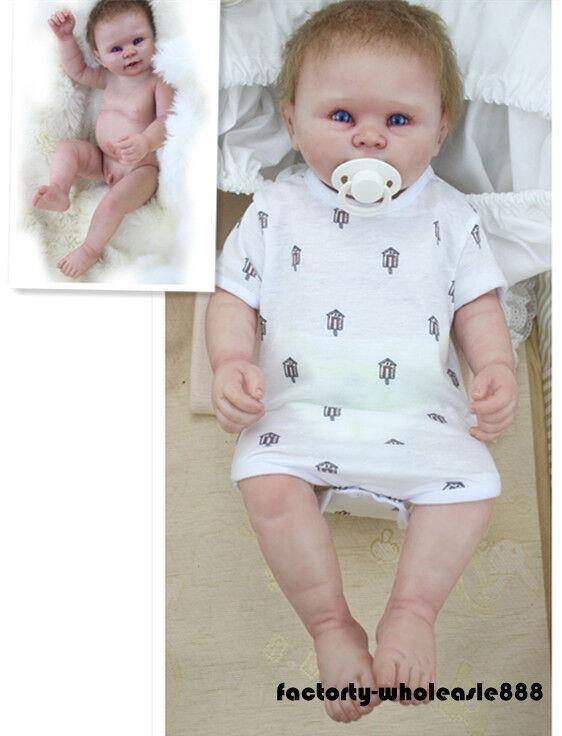 22  Muñecas Reborn Babyboy Lavable recién nacido niño regalos bebe silicona de cuerpo completo