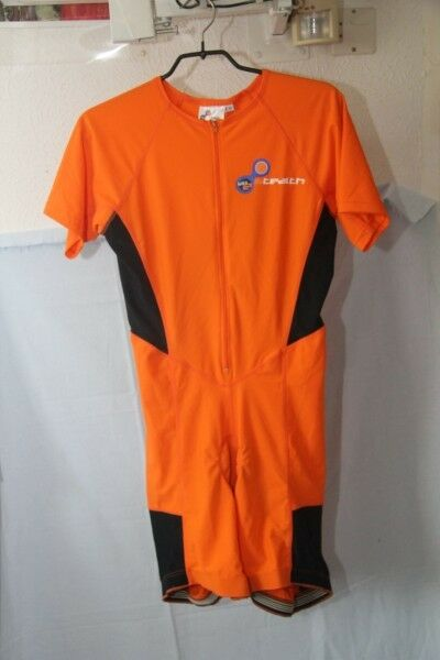 Original STEALTH vo2  Combi short thriatlon Orange bleu noir  Taille    L  neuf