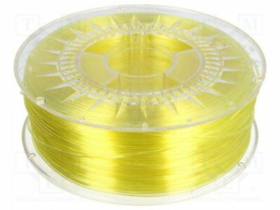 For Fast Shipping 1rol Filament: Pet-g; 1,75mm; Transparent .. hell Gelb Dev-petg-1.75-byt