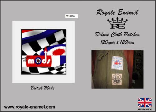 60/'s style Parka Cloth Scooter Club Patch WE ARE THE MODS PP.0056