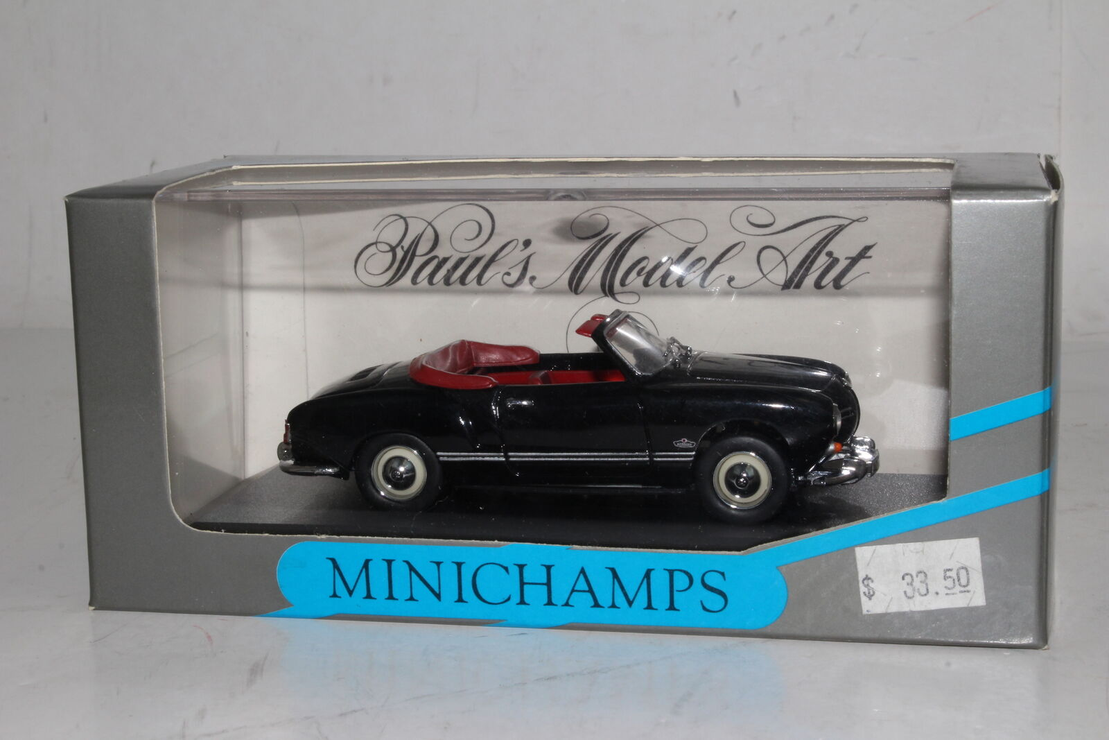 MINICHAMPS DIECAST VOLKSWAGEN VW KARMANN GHIA CABRIOLET CONV., 1 43, BOXED