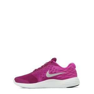 super popular e2800 59059 Image is loading Nike-LunarStelos-Junior-Running-Shoes-Dynamic-Berry-Silver
