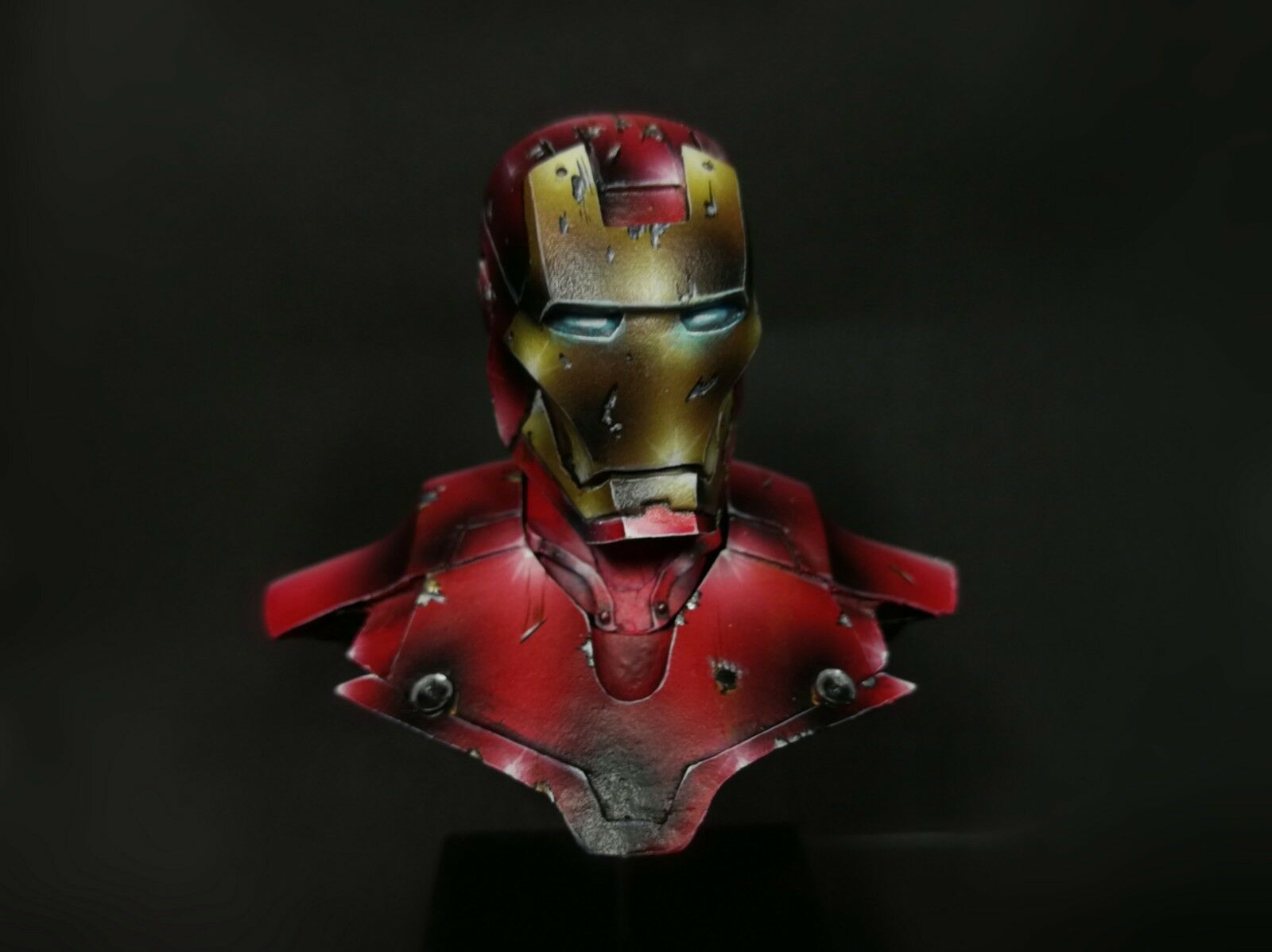 (PTM) PAINTED MARVEL MARVEL MARVEL AVENGERS - 1 10 MINIATURE BUST - IRON MAN (resin) 701a89