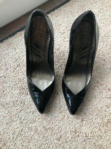 Womens Black Patent Leather Court Shoes
