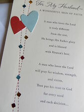 Husband Man Of Faith Christian Birthday Card For Sale Online