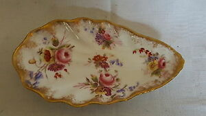 Dresden-vintage-Victorian-antique-clam-shell-shaped-shallow-dish-bowl-A