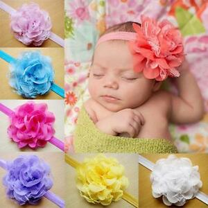 New-Infant-Baby-Girls-Lace-Hair-Band-Headwear-Flower-One-Size-Headband-10-Colors