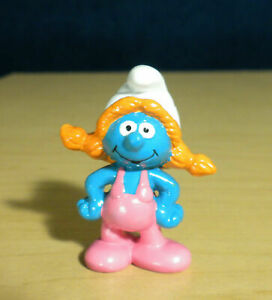 Smurfs Magnet Sassette Smurfling Rare Smurf Figure Vintage 1987 Applause Arjon