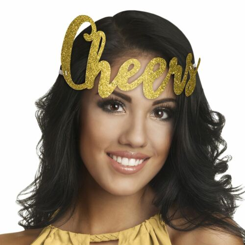 Cheers Glitter Headband Celebration Party Festive New Years Eve