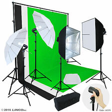 Linco Lincostore Studio Lighting 3 Color Photography Backdrop Stand Kit LK374