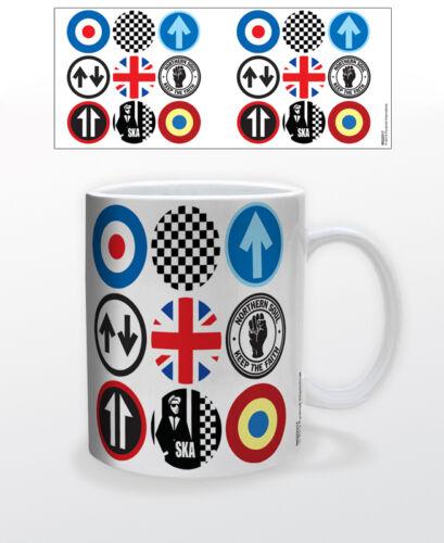 MOD AND SKA ICONS 11 OZ COFFEE MUG PUNK ROCK RYTHM BRITAIN UK GERMANY JAZZ 1950S