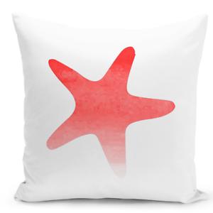 Throw Pillow Star Fish Marine Animals Sea Life Nautical Theme Decor Pillow 16x16 Ebay