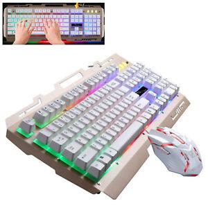 Keyboard-KIT-TASTIERA-E-MOUSE-PER-Console-PC-USB-DESKTOP-104-TASTI-CON-FILO