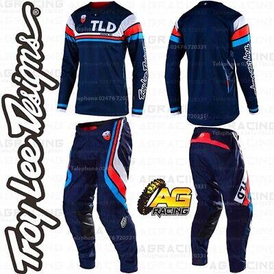 WHITE Motocross DARK NAVY Troy Lee Designs 2020 Mens SE AIR SECA Pants