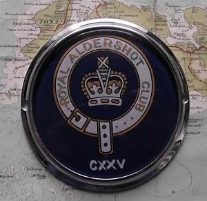 Original-Vintage-Car-Mascot-Badge-Royal-Aldershot-Army-Officers-Club