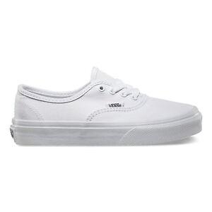 fb7b187d55c VANS Classic Authentic True White Shoes Kids Youths Sneakers Free ...