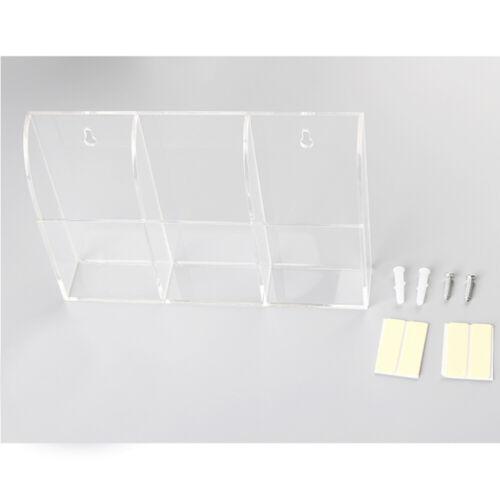 Transparent Remote Control Holder Case TV Air Conditioner Wall Mount Storage Box
