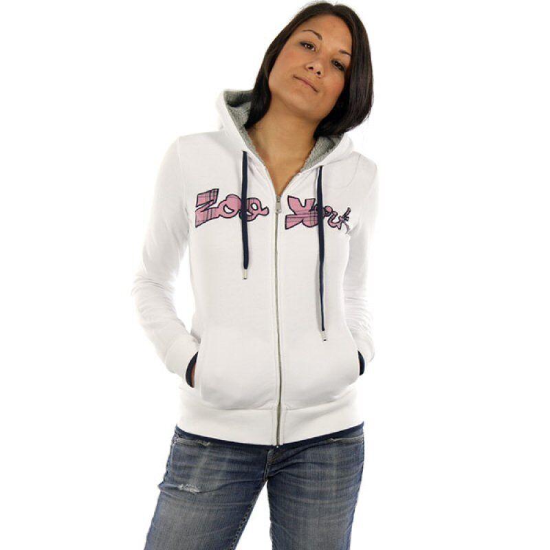 ZOO YORK Consumer Sherpa damen zip hoodie Weiß