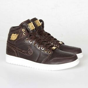 fa6aa1ab92c 705075-205 Men Air Jordan 1 Pinnacle Croc Baroque Brown Metallic ...