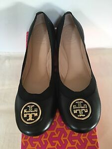 3510230c17622 Image is loading NIB-Tory-Burch-Caroline-2-Ballet-Flats-Black-