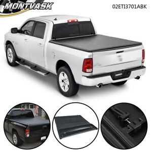 FIT FOR 02-2021 DODGE RAM 1500 2500 3500 6.5FT BED LOCK FOUR-FOLD TONNEAU COVER