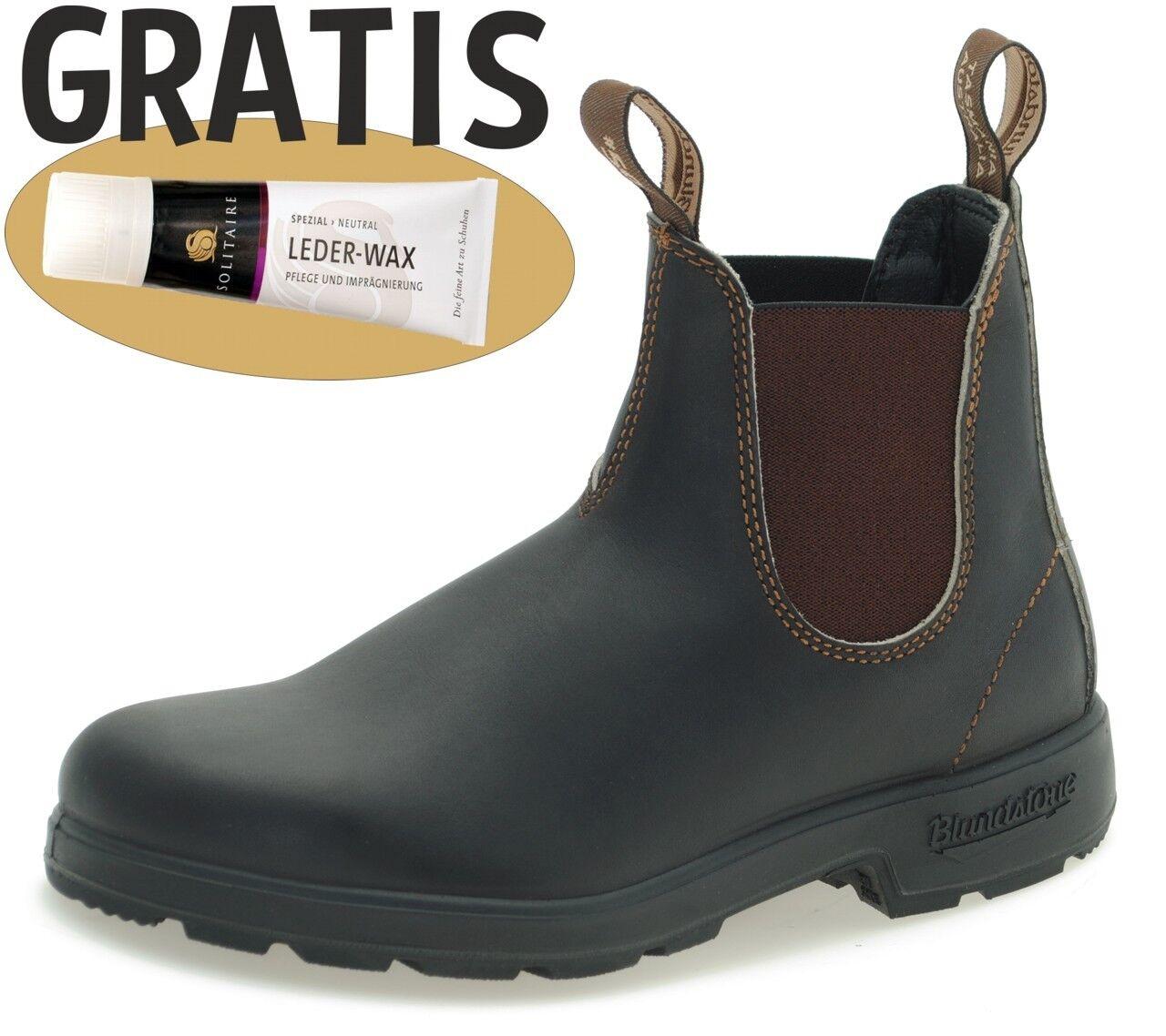Blundstone 500 Chelsea Stiefel Stiefel Leder Outdoor Büro - Stout Braun + Lederwax