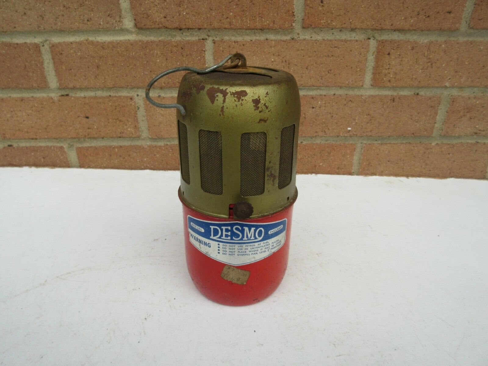 Vintage old rusty Desmo greenhouse anti frost hanging heater untested