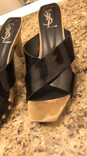 Sandals 38 Authentique Ysl Taille Womans aqwPq6A