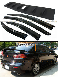 FOR-08-16-MITSUBISHI-LANCER-SHARK-FIN-VORTEX-GENERATOR-SPOILER-JDM-WINDOW-VISOR