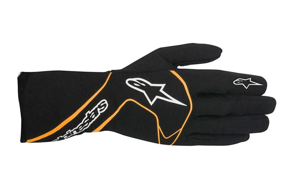 FIA ALPINESTARS TECH 1 RACE Handschuhe Tech1 black   orange Tuning Rennen Fahr