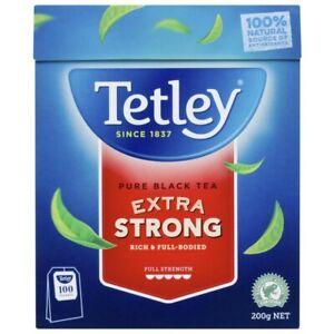 Tetley Extra Strong Black Tea Bags 100 pack 220g