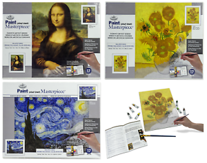 Paint Your Own Artista Masterpiece Tela Immagine Come By Numbers Dipinto Kit