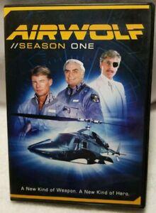 Airwolf-Season-1-DVD-2016-2-Disc-Set-Used-VG-Slight-wear-to-case