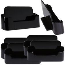 6pcs Black Acrylic Business Card Holder Display Stand Desktop Countertop