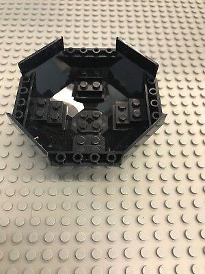 LEGO Cockpit 10 x 10 x 4 Octagonal with Axle Hole Black 8970