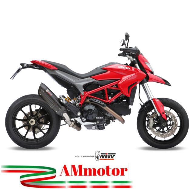 Mivv Hypermotard 821 13 - 2015 Ducati Escape Moto Silenciador Suono Negro