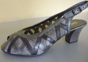 schuhe sandale sandalette ara grau silber gr 7 40 5. Black Bedroom Furniture Sets. Home Design Ideas