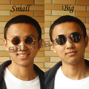 5a5689b4ed Image is loading Round-Frame-Dark-Lens-Sunglasses-Shades-Sunnies-Vintage-