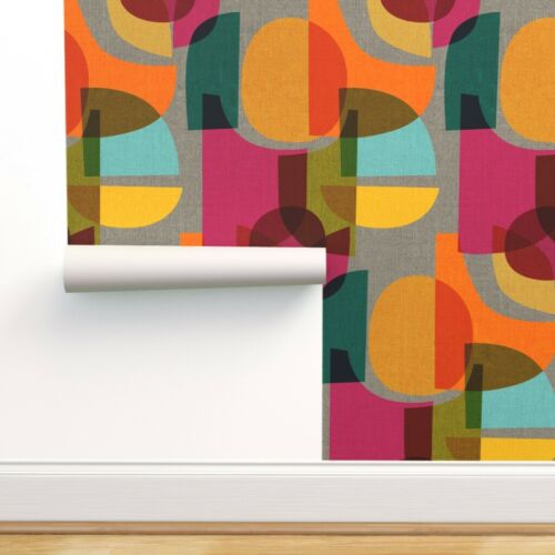 Peel-and-Stick Removable Wallpaper Abstract Geometric Minimal Minimalism Pink