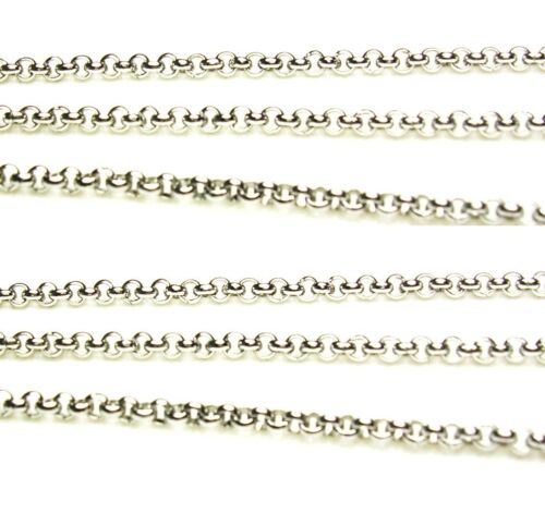 // 316L Of 5 Ft Stainless Steel  Rolo Chain Bright  2 MM Pkg
