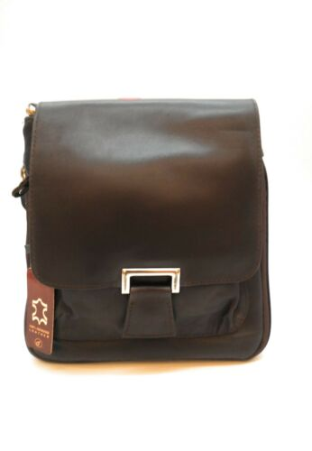 New Women Ladies Real Leather Messenger Cross Body Shoulder Bag Black Brown Red