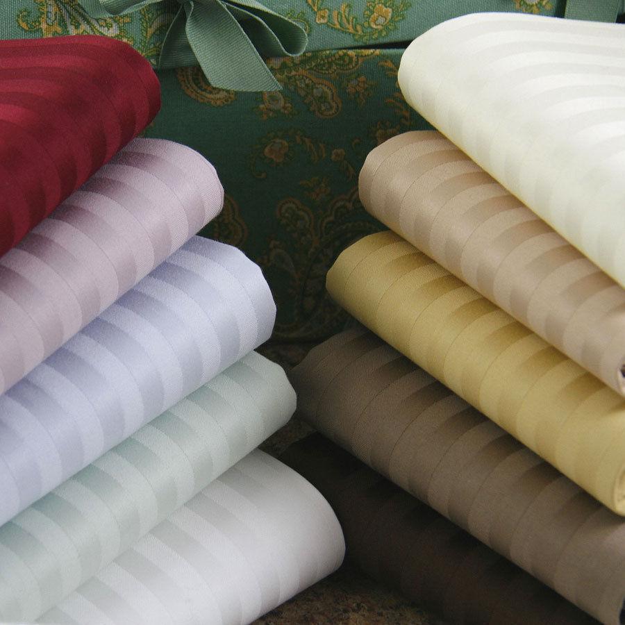 Split Sheet Sets All Striped colors & Sizes 1000 TC Egyptian Cotton