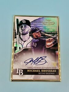 Michael-Brosseau-2020-Topps-Gold-Label-Framed-Auto-GLA-MB-Tampa-Bay-Rays-ROOKIE